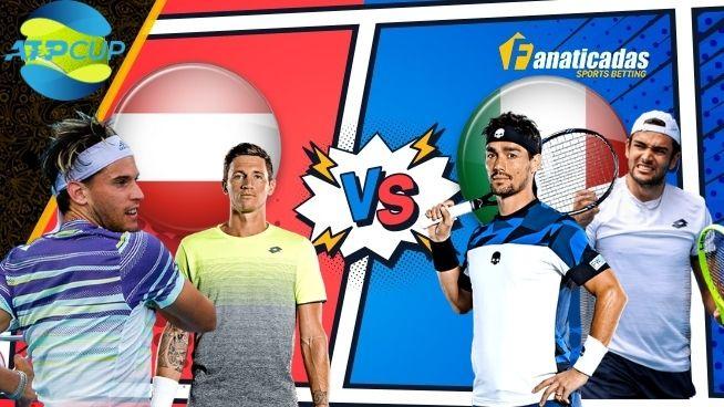 Pronósticos ATP CUP Austria vs Italia _ Apuestas Tenis