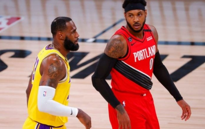 NBA Carmelo Anthony jugará con los Lakers junto con Lebron