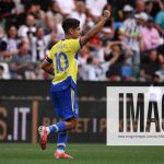 Paulo Dybala of Juventus FC celebrates after scoring the goal of 1-0 during the Serie A football match between Udinese C