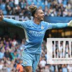 Manchester City v Norwich City Premier League Jack Grealish of Manchester City celebrates scoring his sideÕs 2nd goal du