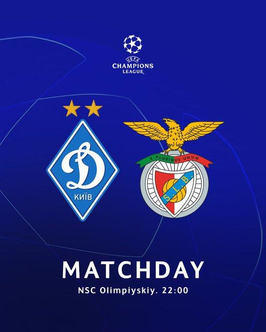 Apuéstale al partido entre Dinamo Kiev vs Benfica por la UEFA Champions League