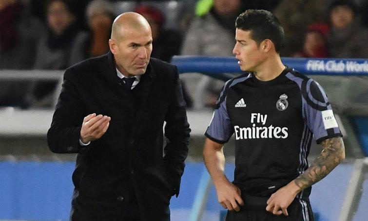 James Rodríguez Zinedine Zidane