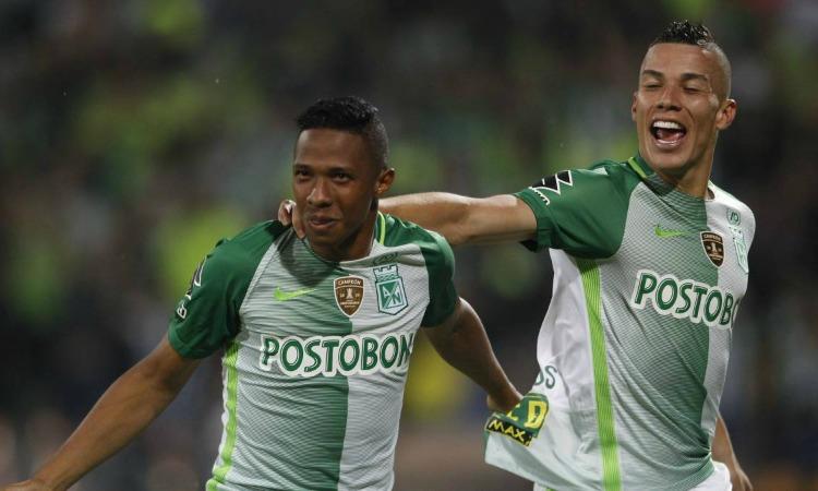 Andrés Ibargüen y Matheus Uribe Atlético Nacional