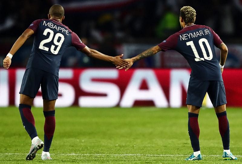 Kylian Mbappé y Neymar Jr.