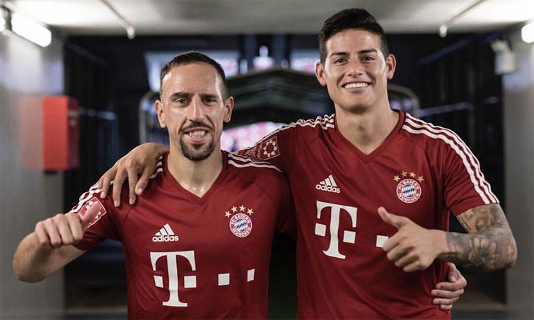 James Rodriguez Franck Ribéry