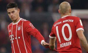 James Rodriguez Arjen Robben