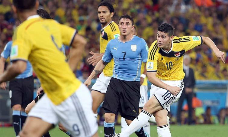 James Rodriguez golazo a Uruguay