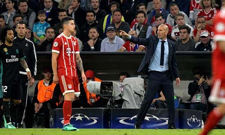 Zinedine Zidane James Rodriguez Real Madrid