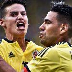 James Rodríguez y Radamel Falcao García Selección Colombia