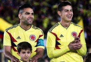 Radamel Falcao García y James Rodríguez Selección Colombia