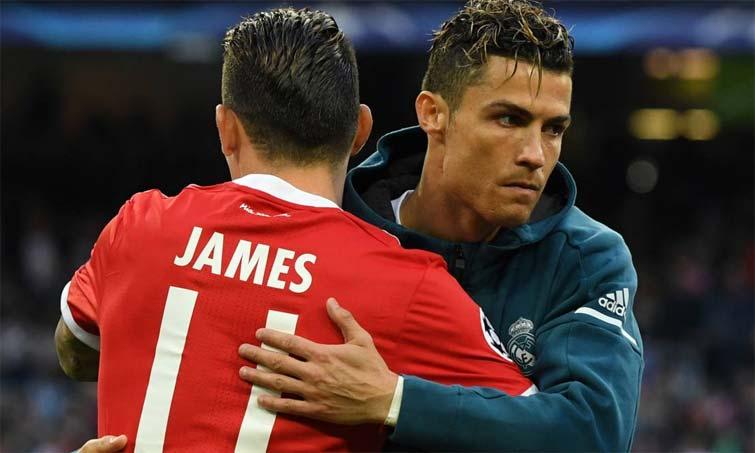 Cristiano Ronaldo James Rodríguez