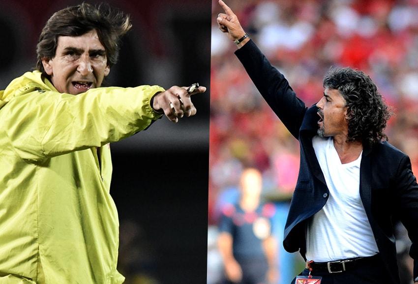 Gustavo Costas y Leonel Álvarez Futbolete