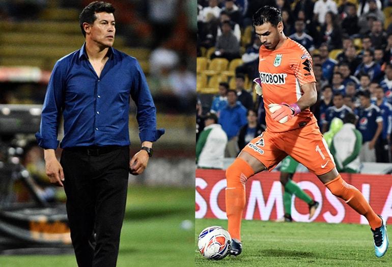 Jorge Almirón y Fernando Monetti Atlético Nacional