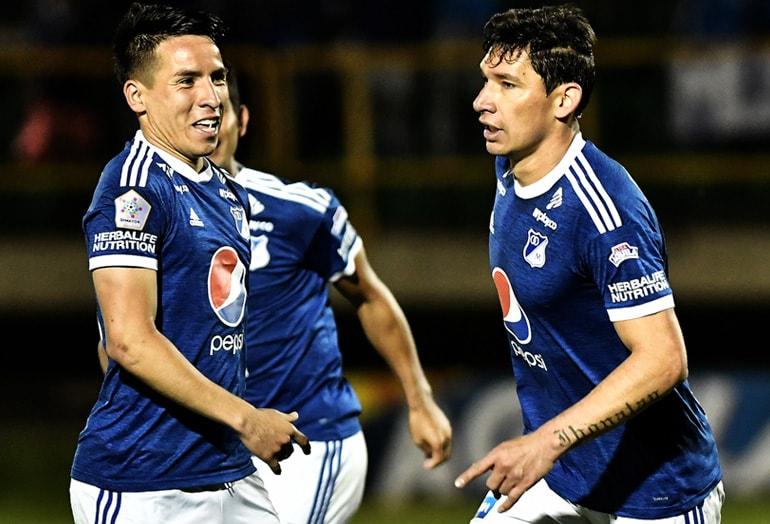 Roberto Ovelar Millonarios - Patriotas Liga Águila 2018-II