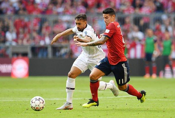 ¡La sonrisa del 10! James, ya recuperado, entrenó con el Bayern