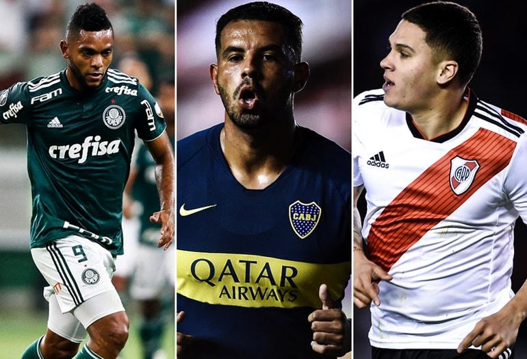 Miguel Ángel Borja, Edwin Cardona y Juan Fernando Quintero Copa Libertadores 2018