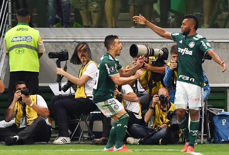Miguel Ángel Borja Palmeiras 2-0 Colo-Colo Copa Libertadores 2018