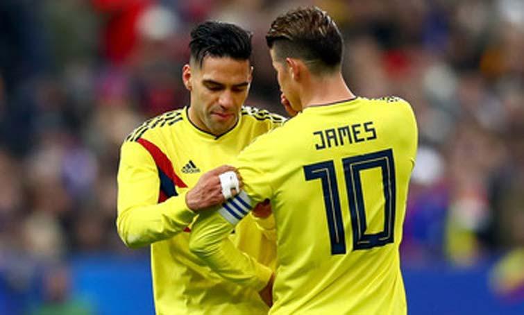 Falcao James Rodríguez Selección Colombia