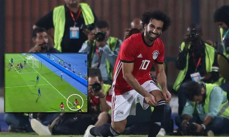 Gol olímpico de Mohamed Salah en amistoso internacional