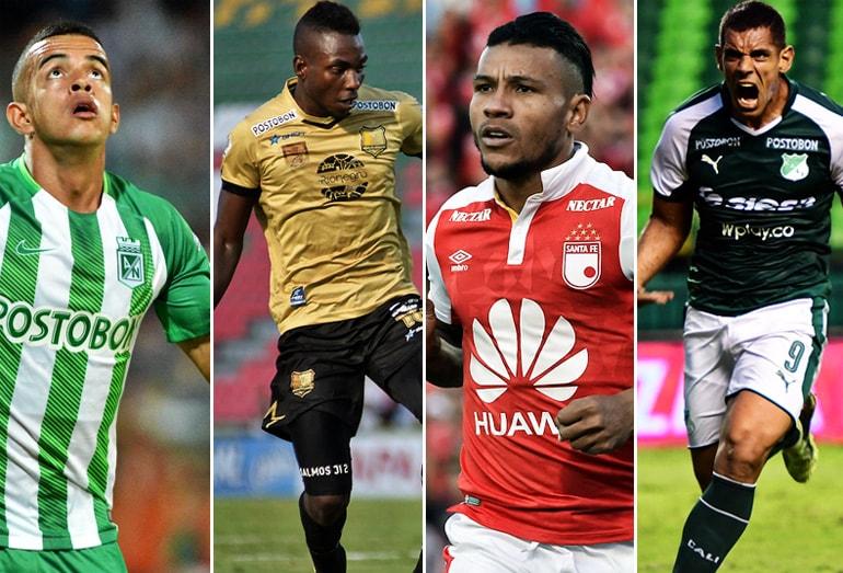 Atlético Nacional, Rionegro Águilas, Independiente Santa Fe, Deportivo Cali Liga Águila 2018-II