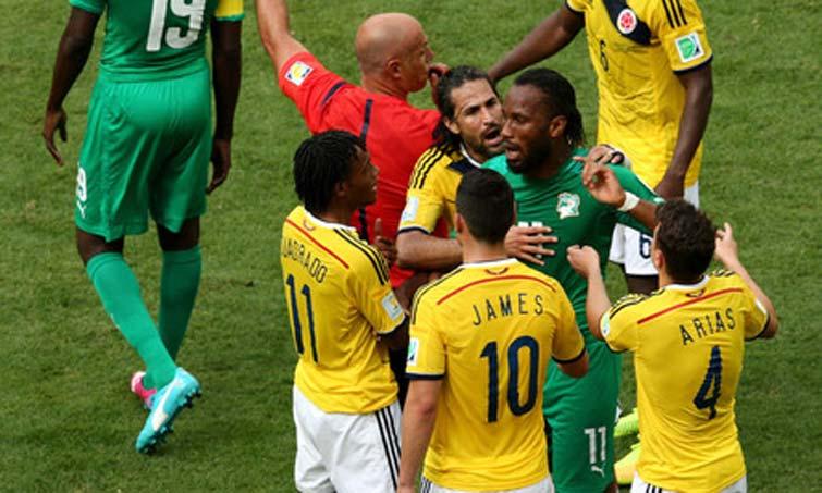 Mario Yepes Didier Drogba