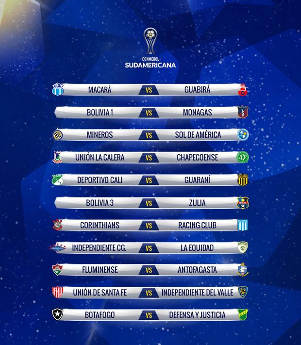 Fase I Copa Sudamericana 2019 2
