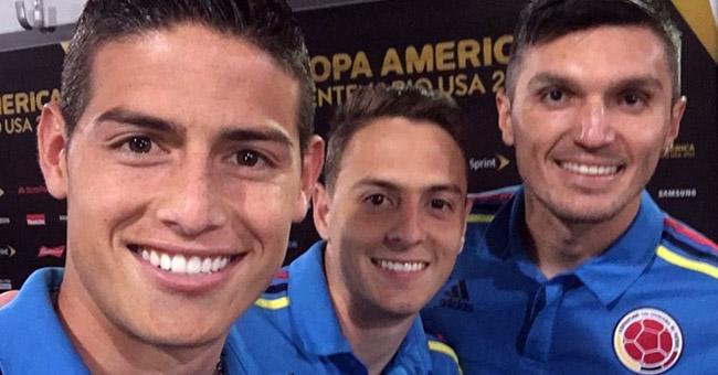 James Rodríguez, Santiago Arias y Daniel Torres