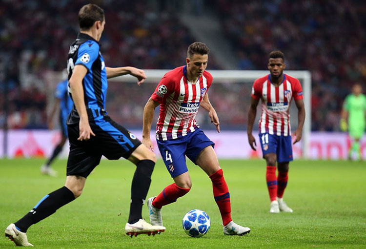 Santiago Arias Club Brugge - Atlético de Madrid Champions League 2018-19