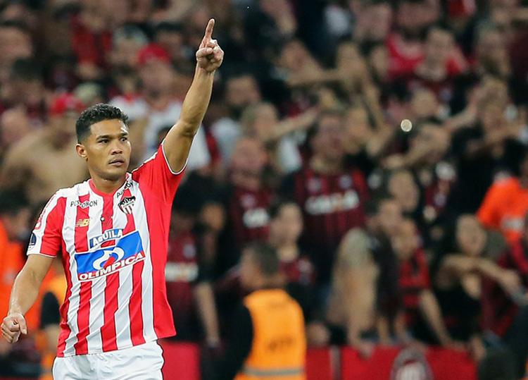 Teófilo Gutiérrez Atlético Paranaense – Junior FC Copa Sudamericana 2018