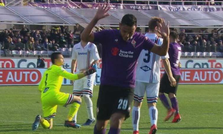 Muriel anotó un sensacional golazo en su debut con Fiorentina
