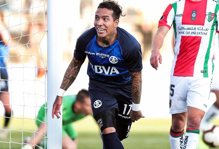 Dayro Moreno Palestino 2–1 Talleres Copa Libertadores 2019