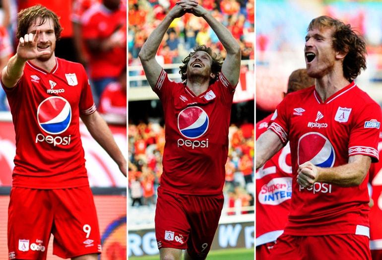 América goleó al Medellín con triplete de Aristeguieta