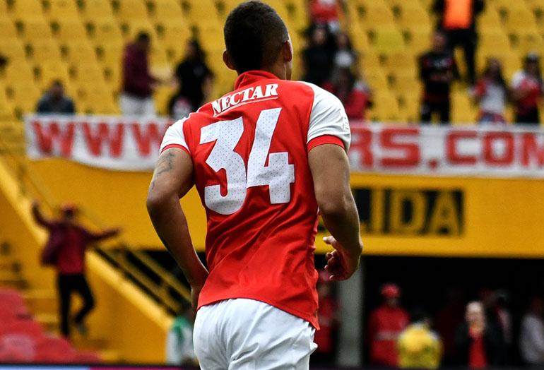 Brayan Perea Santa Fe 2–2 Rionegro Liga Águila 2019–1
