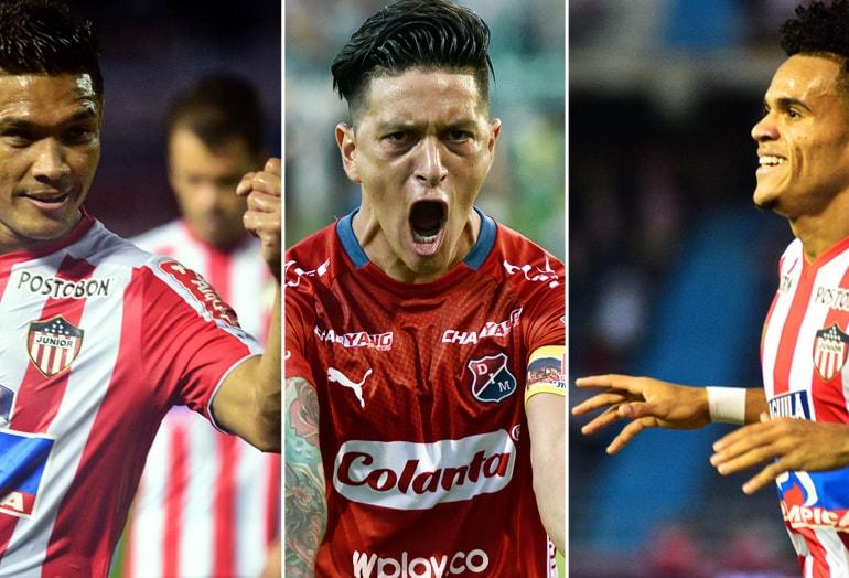 Teófilo Gutiérrez, Germán Cano y Luis Díaz Liga Águila