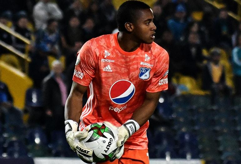 Wuilker Faríñez Millonarios FC 1–1 Atlético Nacional Liga Águila 2019–1