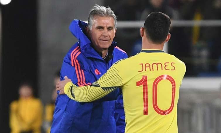 """Carlos Queiroz sobre James Rodríguez: """"No estoy de acuerdo con él"""""""