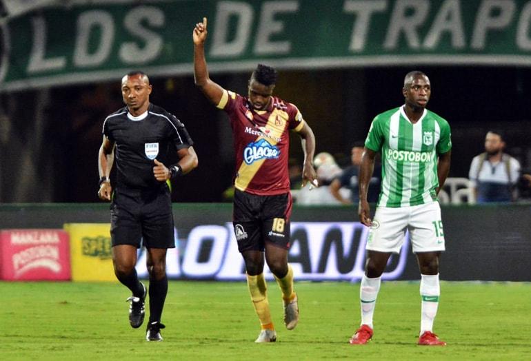 Marco Pérez Atlético Nacional 1–2 Deportes Tolima Liga Águila 2019–1