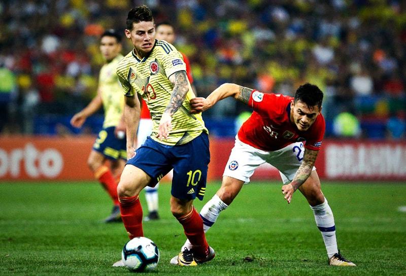 James Rodríguez Colombia – Chile Copa América 2019