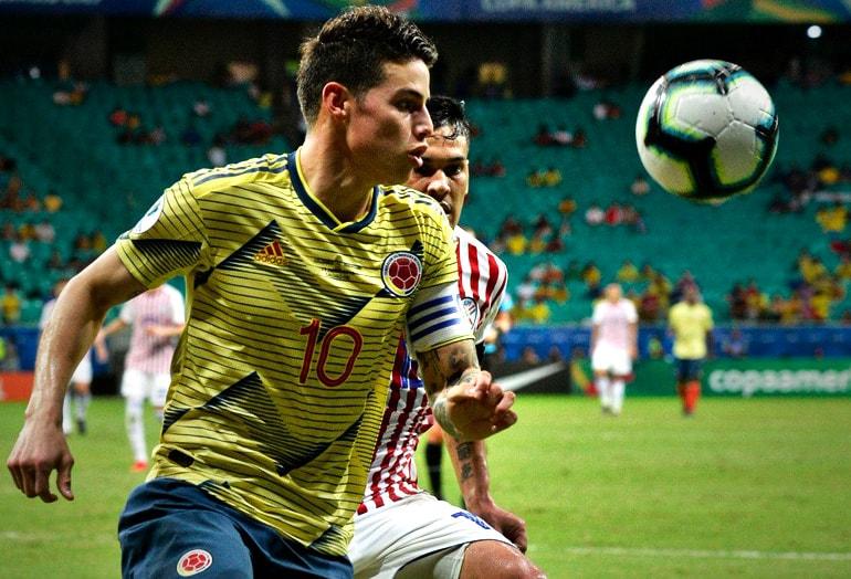 James Rodríguez Colombia 1-0 Paraguay Copa América 2019