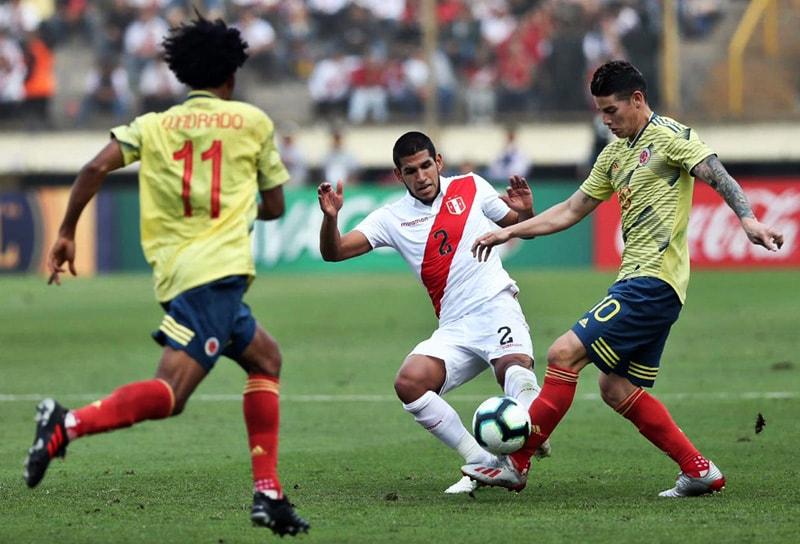 James Rodríguez Perú 0 – 2 Colombia partido de preparación Copa América 2019