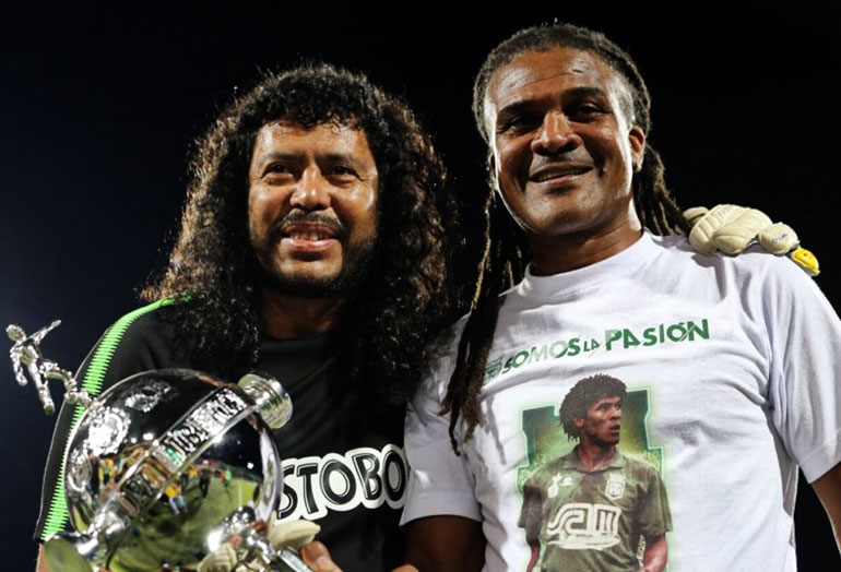 René Higuita y Jhon Jairo Tréllez Atlético Nacional