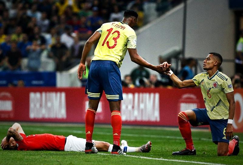 Yerry Mina y William Tesillo Colombia – Chile Copa América 2019