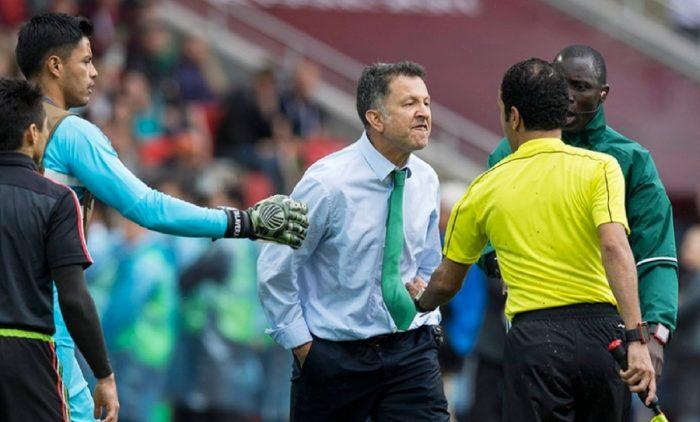 Juan Carlos Osorio agredió a un árbitro después de ser expulsado
