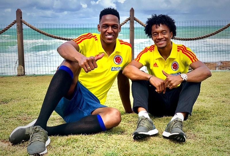 Yerry Mina y Juan Guillermo Cuadrado Selección Colombia
