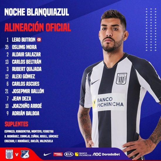 Millonarios le ganó 2 – 1 al Alianza Lima en la Noche Blanquiazul 1