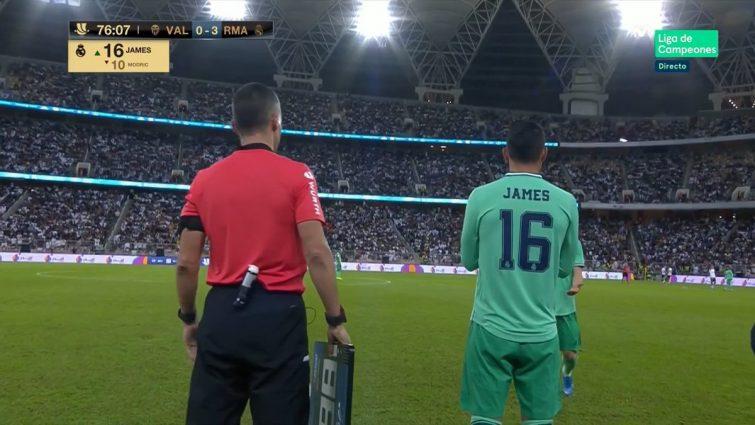 James Rodríguez jugó en la Supercopa de España 2020 1