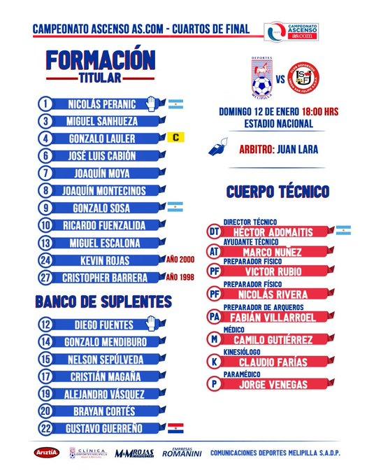 EN VIVO – Melipilla vs Unión San Felipe online por la Primera B de Chile 1