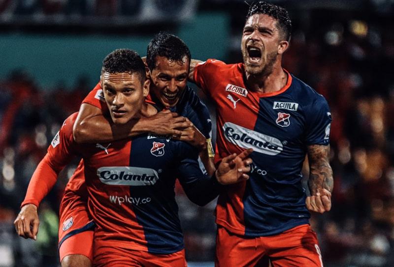 Andrés Ricaurte, Javier Reina, Adrián Arregui, Medellín 2 - 1 Rionegro Águilas, Liga 2020-I