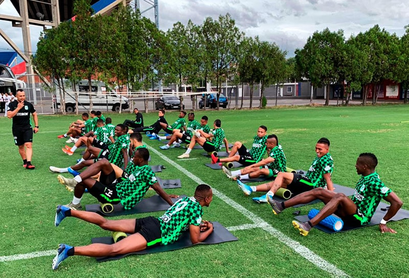 Atlético Nacional, Argentina, entrenamiento