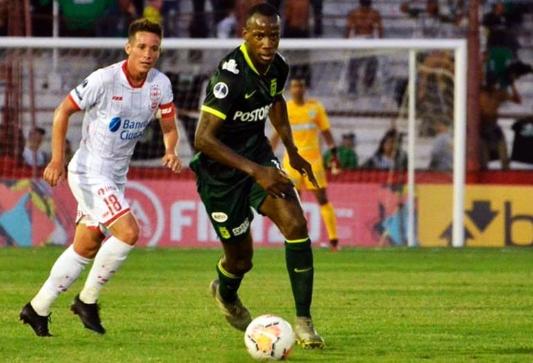 Baldomero Perlaza, Club Atlético Huracán 1 - 1 Atlético Nacional, Copa Sudamericana 2020